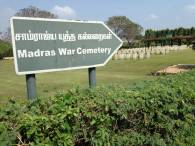 Madras War Cemetery Sign